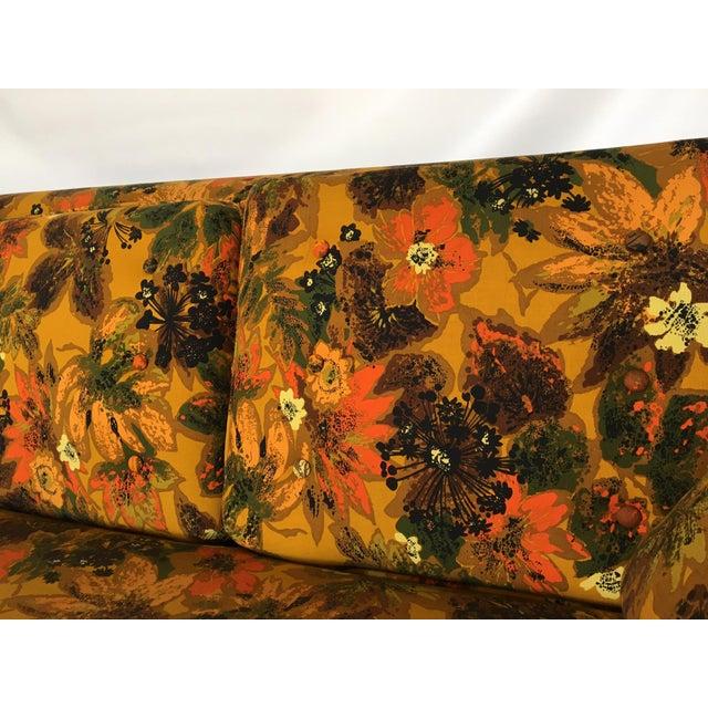 1967 Vintage Bernard Castro Mid Century Modern Floral Sleeper Sofa Chairish