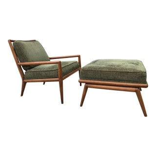 TH Robsjohn Gibbings for Widdicomb Lounge Chair & Ottoman