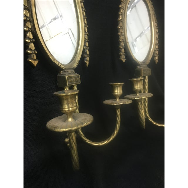 Brass Wall Sconces With Mirrors - Two Chairish