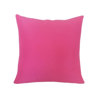 Contemporary Magenta Silk & Viscose Pillow