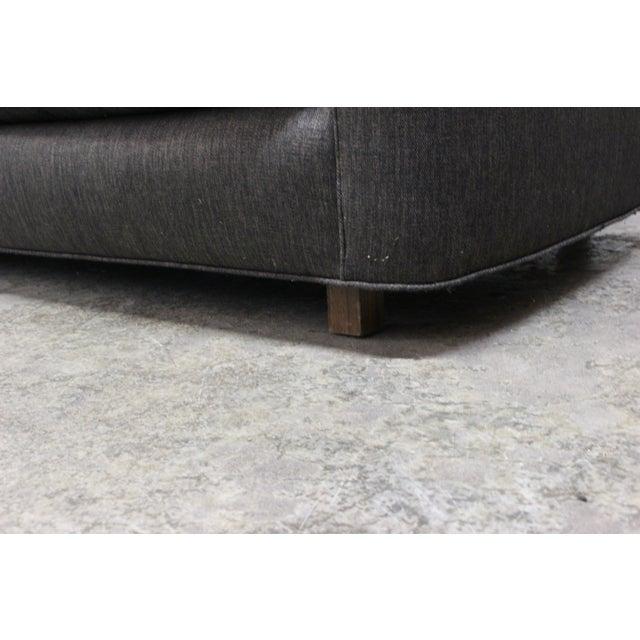 Henredon Curved Arm Charcoal Gray Sofa - Image 9 of 9