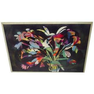 Multicolor Floral Painting by Aldrich Jenkins