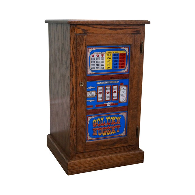 Repurposed Golden Nugget Slot Machine Side Table - Image 1 of 10