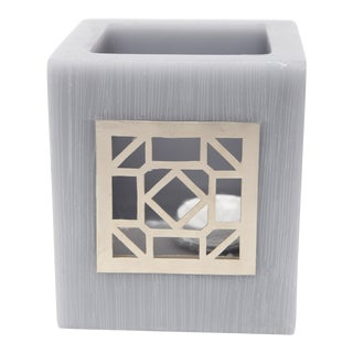 Small Gray Kasbah Tealight Holder