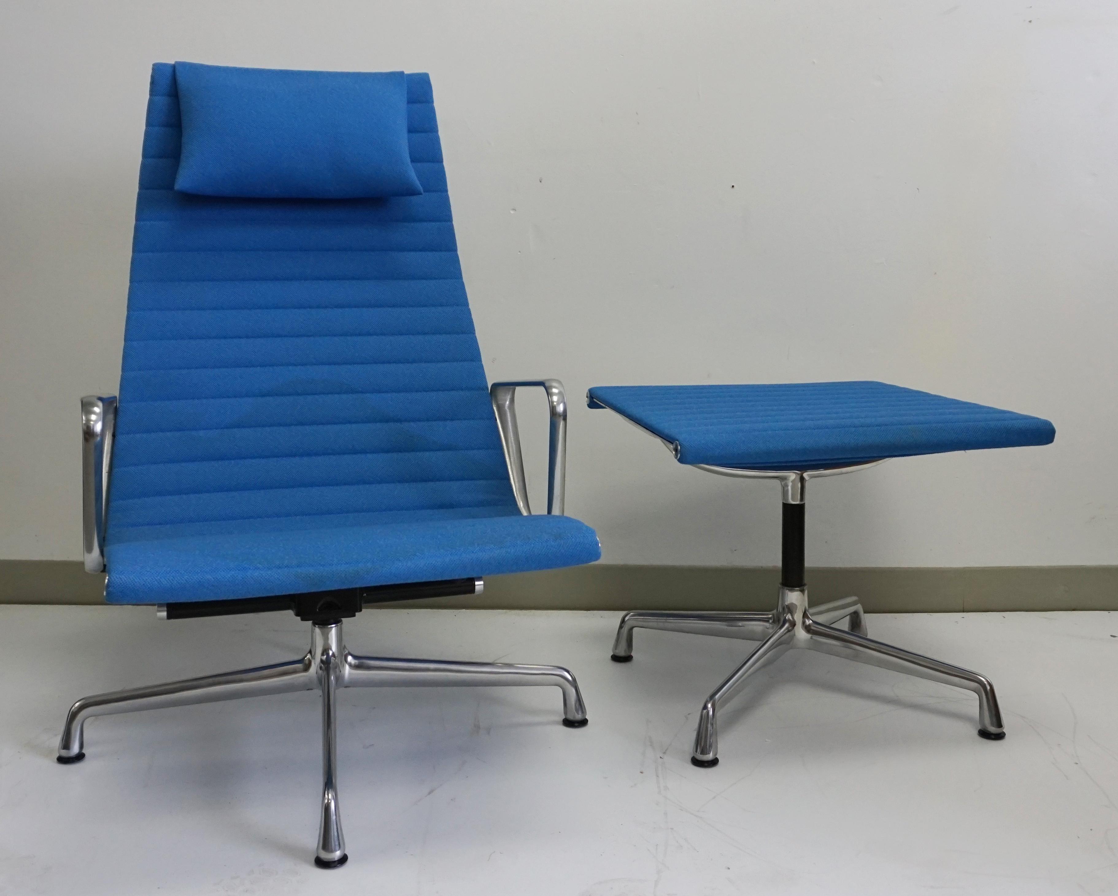 Eames Aluminum Collection Chair Amp Ottoman Chairish