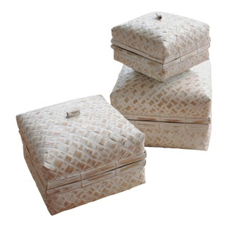 Balinese Woven Storage Baskets - Set of 3