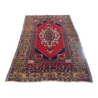 Anatolian Turkish Carpet - 4′2″ × 6′8″