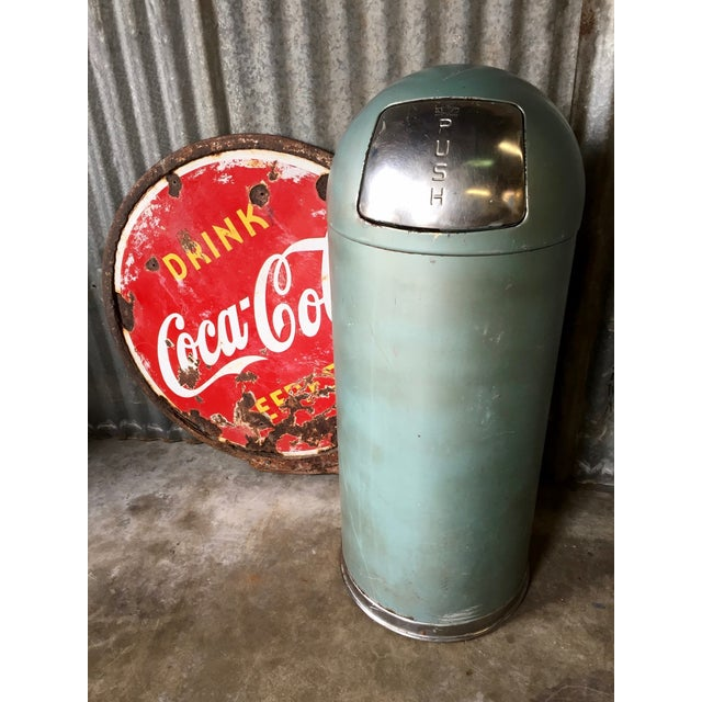 Vintage United Metal Trash Can - Image 3 of 11