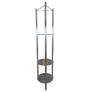 Mid-Century Chrome Etagere with Triangular Shelves