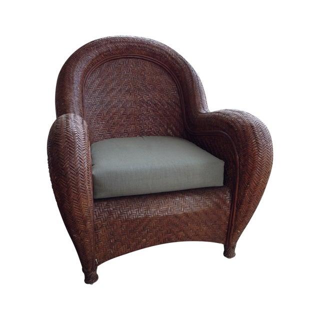 Pottery Barn Quot Malabar Quot Wicker Chairs Set Of 4 Chairish