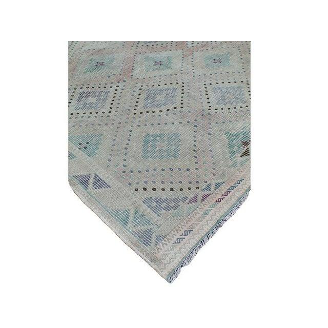 Vintage Turkish Flat Weave Rug: Antique Tribal Turkish Flat Weave Rug