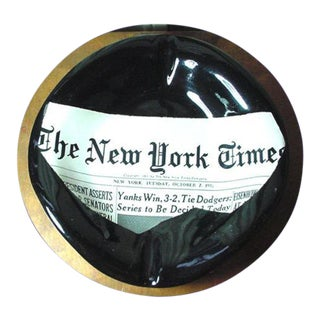 Vintage The New York Times Ashtray