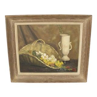 Mid-Century Modern Oil on Canvas Still Life