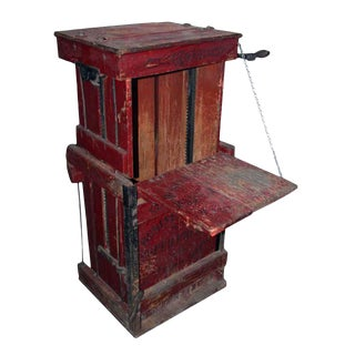 Antique Stenciled Red Book Press