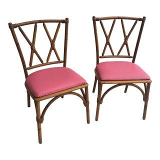 Heywood Wakefield Mid-Century Bamboo Chairs - A Pair