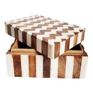Inlay Tessellated Bone Storage Box