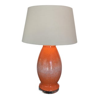 Orange Ceramic Transitional Lamp
