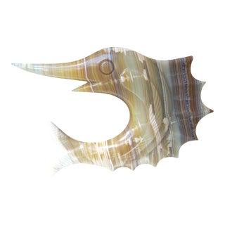 Carved Onyx Sailfish Figure