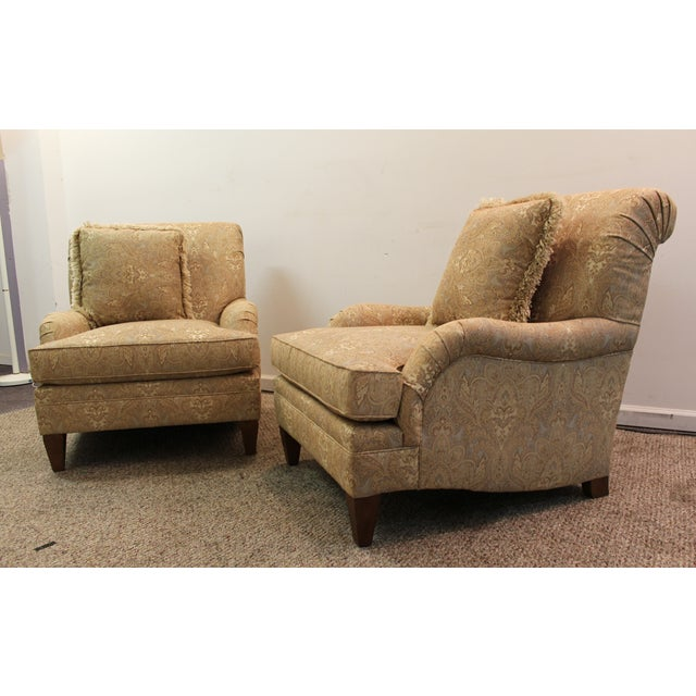 Image of Contemporary Clayton Marcus Club Chairs - Pair
