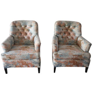 Asian Motif Accent Chairs - A Pair