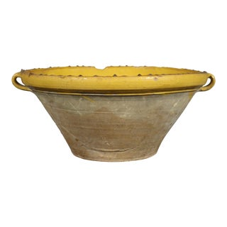 French Ochre Pottery Bowl