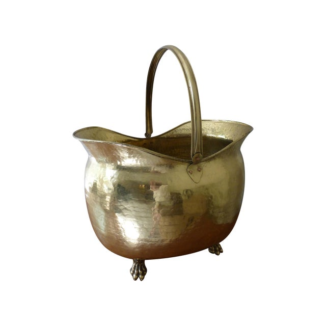 French Antique Brass Coal Hod - Image 1 of 8