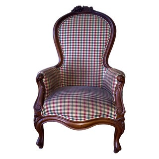 Antique Victorian Handcarved Mahogany Armchair