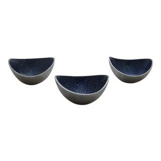Mid-Century Modern Organic Enameled Finger Bowls - Set of 3
