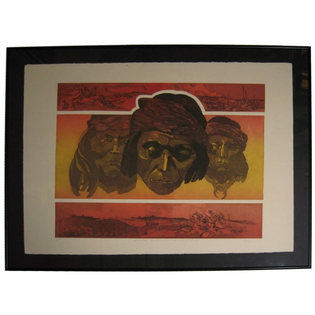 Apache Scout Lithograph by Criley - Image 1 of 3
