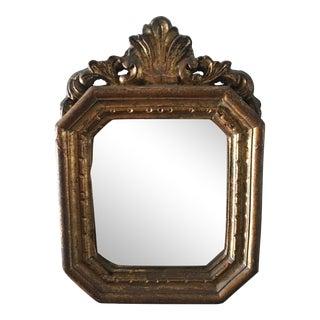 Antique Small Decorative Gilt Mirror