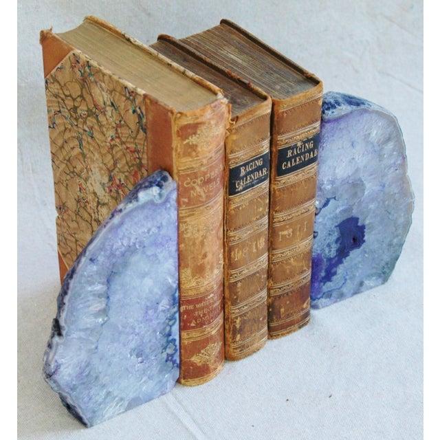 Violet Crystal Rock Geode Bookends - Image 4 of 7