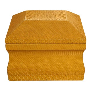 Karl Springer Lemon Yellow Python Skin Jewelry Box