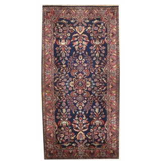 "Pasargad Hand-Knotted Red Saruk Rug - 2'5"" X 4'9"""