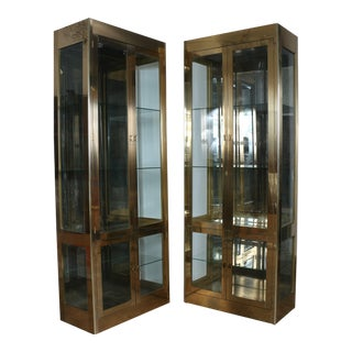 Mastercraft Brass Cabinets - A Pair