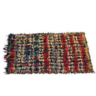 Vintage Boucherouite Carpet - 3′8″ × 6′7″