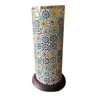 Flower Mosaic Table Lantern