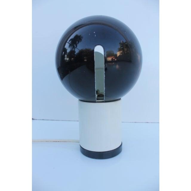 Valenti & Co. Italian Mod White & Black Table Lamp - Image 4 of 9