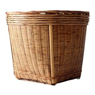 Vintage Woven Reed Basket