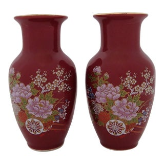 Japanese Accents Vases - a Pair