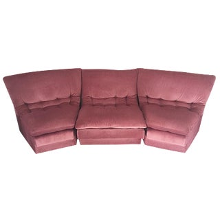 Vladimir Kagan-Style Sectional in Dusty Rose