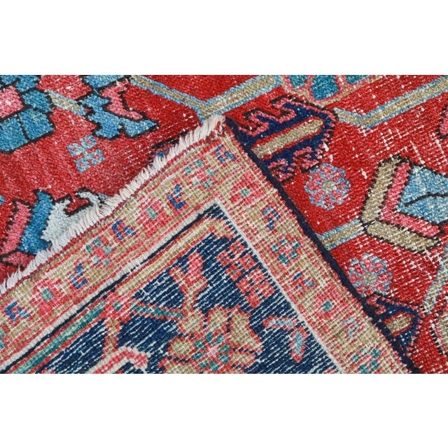 Antique Persian Heriz Rug - 9′6″ × 12′6″ - Image 6 of 6