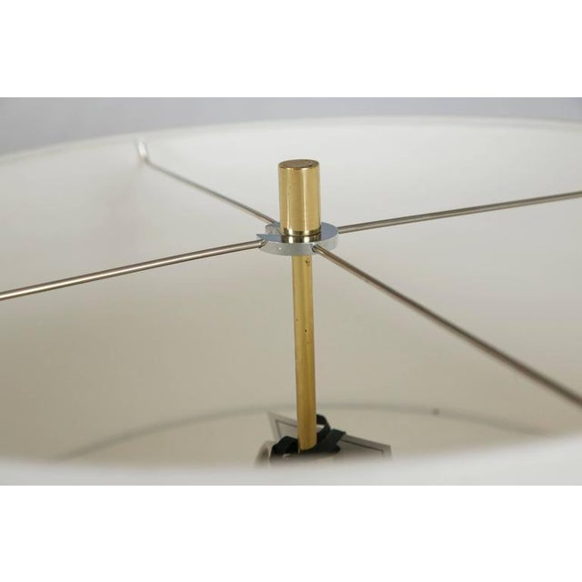 Image of Midcentury Brass and Formica Table Floor Lamp