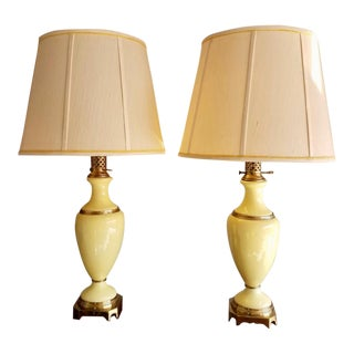 Hollywood Regency Style Table Lamps - a Pair