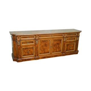 Francesco Molon Burl Wood Executive Sideboard Credenza