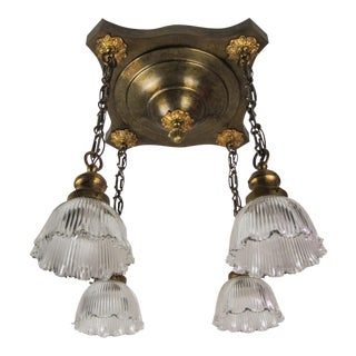 Edwardian Flush Mount Light Fixture (4-Light)