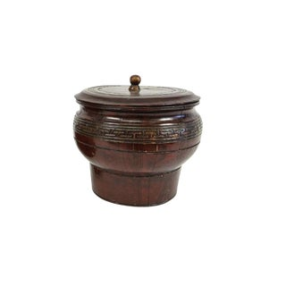 Wooden Chinese Carved Basket
