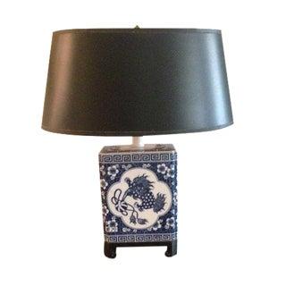 Vintage Blue & White Dragon Table Lamp