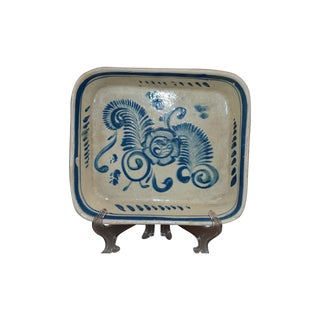 Tlaquepaque Pottery Blue & White Mexican Dish