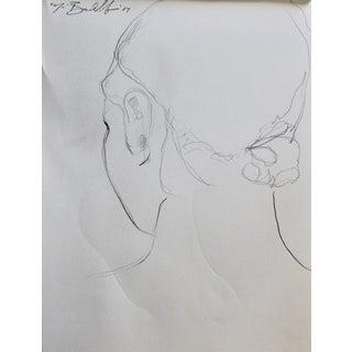 Original Drawing 'Elizabeth From Behind'