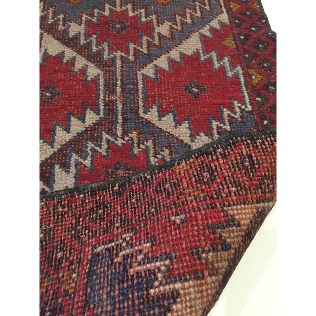 Vintage Handknotted Persian Runner - 1′9″ × 4′8″ - Image 3 of 6
